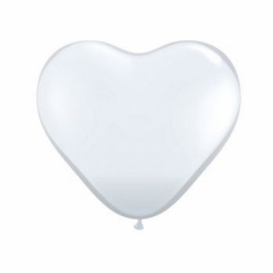 Ballon coeur blancs