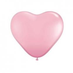 Ballon coeur roses