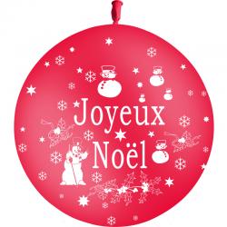 Ballons Joyeux Noel Rouges Latex