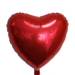 Ballons cœur Rouges Mylar Ø 75 cm x l'unité