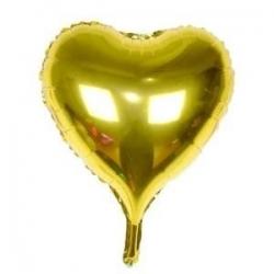Ballon coeur or mylar