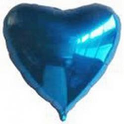 Ballons cœur Bleu Mylar Ø 48 cm x l'unité