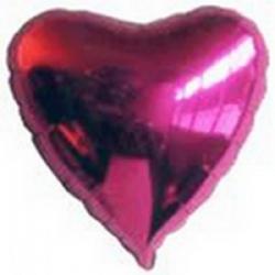 Ballons cœur Roses Mylar Ø 48 cm x l'unité