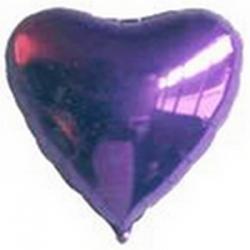 Ballons cœur Violets Mylar Ø 48 cm x l'unité