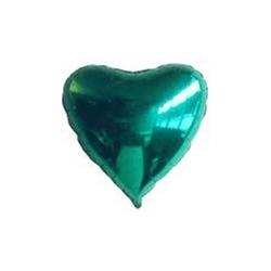 Ballons cœur Verts Mylar Ø 48 cm x l'unité