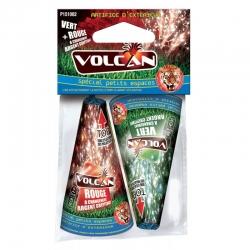 Volcan Rouge et Vert Petit modèle x boite de 2 (Ht. 2,5 m x 20 s.)