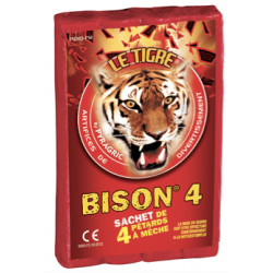 Pétards Bison 4 en Etui de 4 unités CAT.F3
