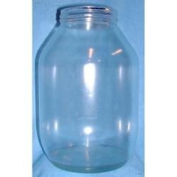 Pot Jarre à Cornichon Transparent H. 22 cm Ø14 cm Résine cassable