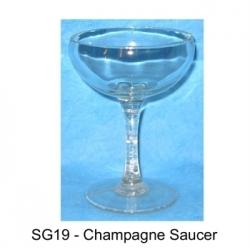 Verre Coupe de Champagne en Résine cassable