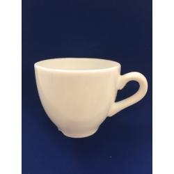 Tasse à café ronde céramique blanche résine cassable (sucre)