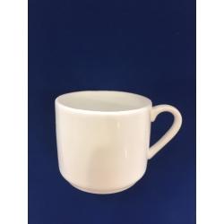 Tasse à café droite céramique blanche résine cassable (sucre)