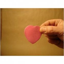 Confettis forme Coeur 55 mm Rose vif