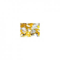 Confettis Pro : 20x50 mm Métal Or/Argent