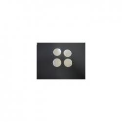 Confettis Pro : Ø 55 mm Métal Argent Ignifugés