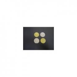Confettis Pro : Ø 55 mm Métal Or/Argent