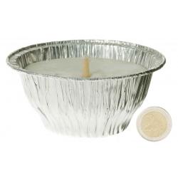 Bougie cache pot aluminium