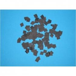 Confettis Pro : 10x10 mm forme Carré Noir
