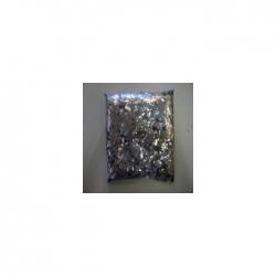 Confettis Pro : 6x6 mm Carré Métal Argent