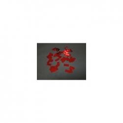 Confettis Pro : 10x20 mm Métal Rouge